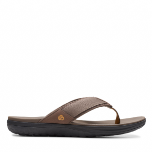 Clarks Mens Step Beat Dune Brown Sandals